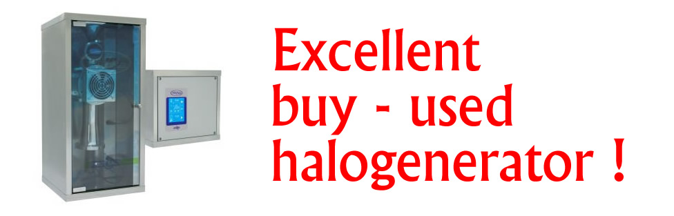 Limited offer of used halogenerator – only for countries without our distributors