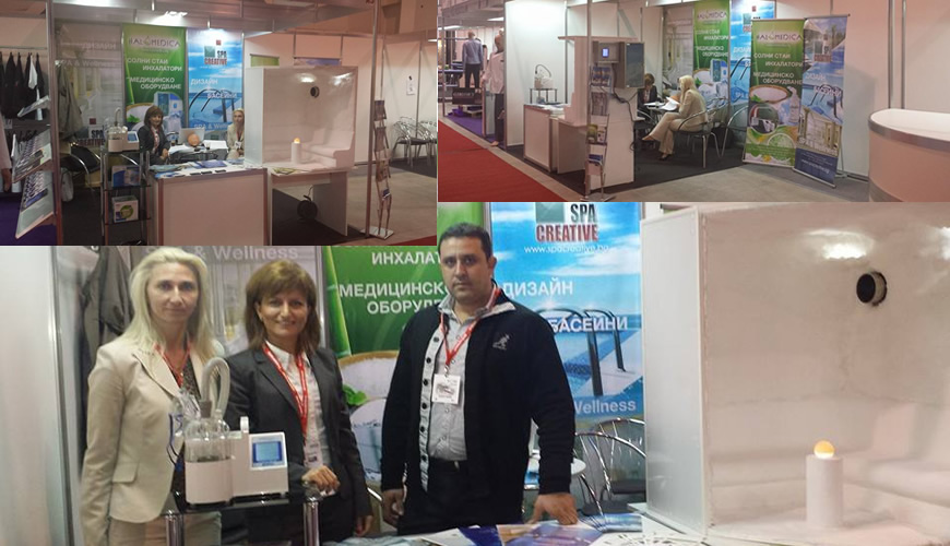 Prizma qualitiy inhalers and halogenerator on fair in Inter Expo center in Sophia Bulgaria
